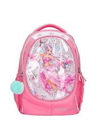 Fantasy Model Plecak szkolny Top Model, Różowy, wróżka i kolibry, z cekinami, mentolową pompką i zawieszką z kolibrem. Kolor: różowy