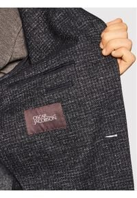 Oscar Jacobson Płaszcz wełniany Santiago 7103 5279 Czarny Regular Fit. Kolor: czarny. Materiał: wełna
