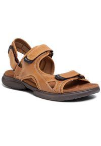 Brązowe sandały Lasocki For Men na lato