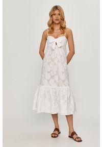Biała sukienka Beatrice B na ramiączkach, casualowa, na co dzień