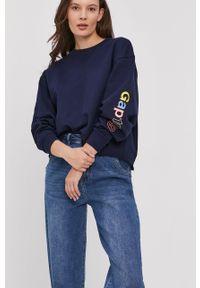 Niebieska bluza GAP z nadrukiem, bez kaptura