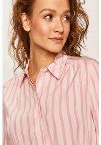 Różowa koszula TOMMY HILFIGER na co dzień, długa, z klasycznym kołnierzykiem, elegancka