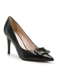 Czarne szpilki Wittchen eleganckie, bez zapięcia, na szpilce