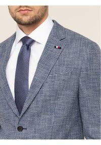 Tommy Hilfiger Tailored Marynarka Houdstood TT0TT06920 Niebieski Slim Fit. Kolor: niebieski