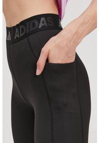 adidas Performance - Legginsy. Kolor: czarny. Materiał: dzianina. Technologia: Techfit (Adidas)