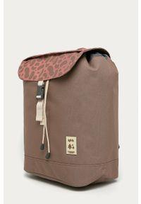 Brązowy plecak Lefrik z nadrukiem
