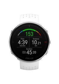 Biały zegarek POLAR sportowy, cyfrowy