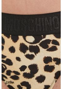 Moschino Underwear - Stringi. Kolor: beżowy