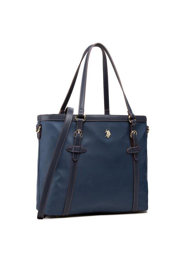 U.S. Polo Assn - Torebka U.S. POLO ASSN. - Houston Shopping BIUHU4911WIP212 Navy. Kolor: niebieski. Wzór: aplikacja. Materiał: zdobione. Styl: klasyczny