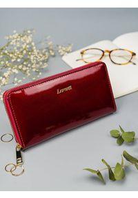 LORENTI - Skórzany portfel damski lakierowany Lorenti RFID. Materiał: skóra