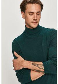 Oliwkowy sweter s.Oliver długi, casualowy