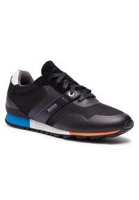 Czarne sneakersy BOSS na co dzień, z cholewką
