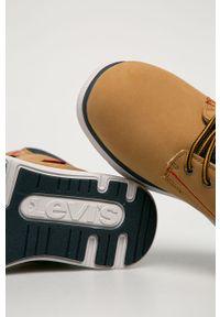 Pomarańczowe buty zimowe Levi's® z okrągłym noskiem, na spotkanie biznesowe