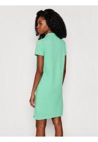 Zielona sukienka dzianinowa Polo Ralph Lauren polo, casualowa, prosta, na co dzień