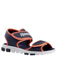Buty do chodzenia dla dzieci Reebok Sandal Wave Glider. Okazja: na co dzień. Nosek buta: otwarty. Materiał: kauczuk. Sport: turystyka piesza