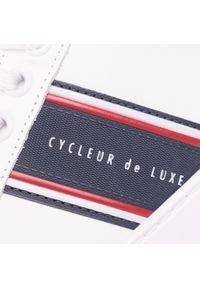 Białe półbuty Cycleur De Luxe z cholewką, klasyczne