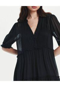 LOVLI SILK - Czarna maxi sukienka z jedwabiu #NO.17. Kolor: czarny. Materiał: jedwab. Długość: maxi