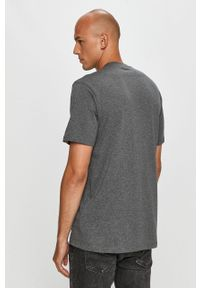 Szary t-shirt Element z nadrukiem, na co dzień