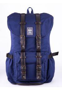 Solier - Wodoodporny plecak męski SOLIER SV01 granatowy. Kolor: niebieski. Materiał: materiał. Styl: sportowy
