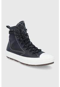 Converse - Trampki skórzane. Nosek buta: okrągły. Zapięcie: sznurówki. Kolor: czarny. Materiał: skóra