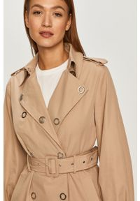Beżowy płaszcz Guess bez kaptura