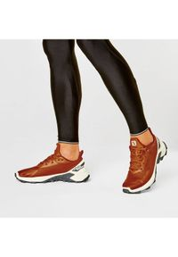 Brązowe buty do biegania salomon