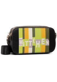 Czarna listonoszka Wittchen elegancka, w kolorowe wzory