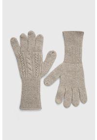 Answear Lab - Rękawiczki z domieszką wełny. Kolor: szary. Materiał: wełna. Wzór: melanż. Styl: wakacyjny