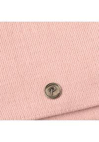Czapka damska PaMaMi - Pudrowy róż. Kolor: różowy. Materiał: akryl