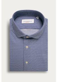 Niebieska koszula Baldessarini krótka, z klasycznym kołnierzykiem