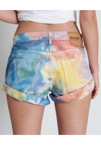 ONETEASPOON - Spodenki Rainbow Bandits. Stan: podwyższony. Kolor: niebieski. Materiał: jeans. Wzór: aplikacja #2
