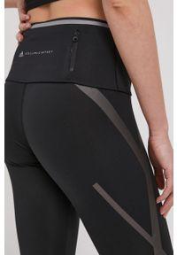 Czarne legginsy Adidas by Stella McCartney gładkie