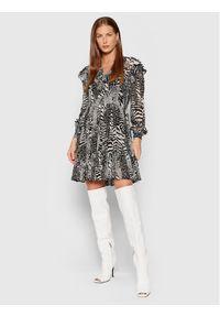 TwinSet Sukienka koktajlowa 212TP2102 Czarny Regular Fit. Kolor: czarny. Styl: wizytowy