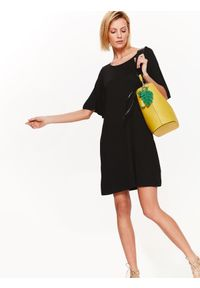 Czarna sukienka TOP SECRET na co dzień, na lato
