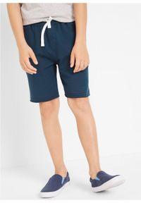 Bermudy chłopięce dresowe (2 pary) bonprix jasnoszary melanż - ciemnoniebieski. Kolor: szary. Materiał: dresówka. Wzór: melanż. Styl: sportowy