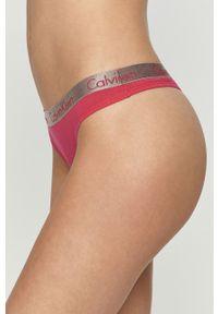 Różowe majtki Calvin Klein Underwear z nadrukiem