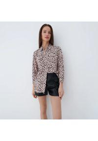Mohito - Wiskozowa koszula Eco Aware - Brązowy. Kolor: brązowy. Materiał: wiskoza