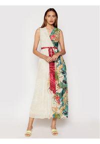 Rinascimento Sukienka wieczorowa CFC0103473003 Beżowy Regular Fit. Kolor: beżowy. Styl: wizytowy