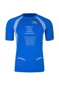 Niebieska koszulka termoaktywna X-Bionic z dekoltem na plecach