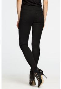 Czarne spodnie materiałowe only gładkie
