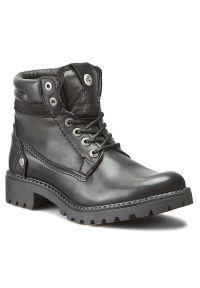 Czarne buty trekkingowe Wrangler z cholewką
