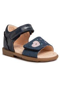 Niebieskie sandały Geox na lato, na co dzień, z aplikacjami, casualowe