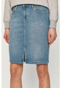 Niebieska spódnica Lee z podwyższonym stanem, casualowa