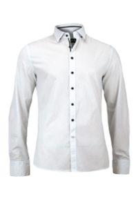 Biała elegancka koszula Paul Bright w kropki