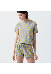 Cropp - Dwuczęściowa piżama The Simpsons - Szary. Kolor: szary