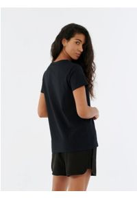 outhorn - Gładki t-shirt damski. Materiał: bawełna, jersey. Wzór: gładki