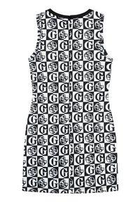 Guess Sukienka codzienna J1YK01 K3PP2 Biały Regular Fit. Okazja: na co dzień. Kolor: biały. Typ sukienki: proste. Styl: casual
