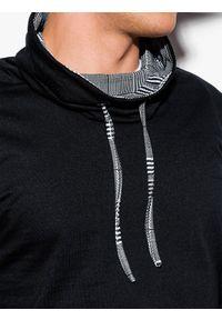 Czarna bluza Ombre Clothing w kratkę, ze stójką #5