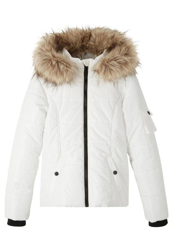 Biały płaszcz bonprix na zimę