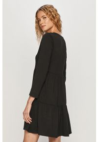 Haily's - Sukienka. Kolor: czarny. Materiał: materiał. Długość rękawa: długi rękaw. Typ sukienki: rozkloszowane